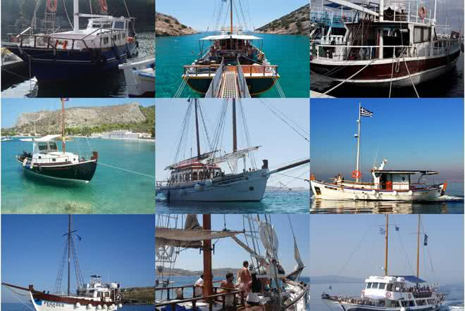 Charter boats to Delos